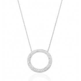chaine de cou en or 18 carats et pendentif or blanc et diamant 0,50 carat