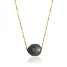 Chaine or jaune 18 carats et perle de Tahiti