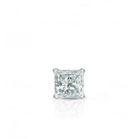 Boucle oreille homme or jaune 18 carats et diamant 0,15 carats.