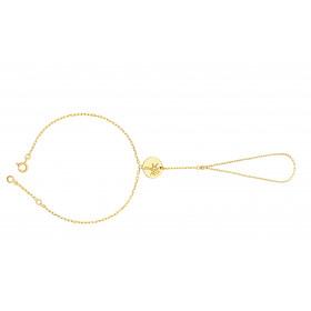 """Chaine de main or jaune 18 carats et diamant 0,06 carat """"arbre de vie"""""""