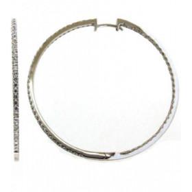 Boucles d'oreilles or blanc 18 carats et diamant 1,50 carat