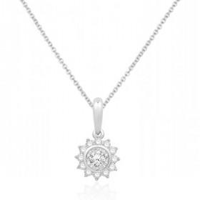 Chaine or blanc 18 carats et diamants 0,22 carat