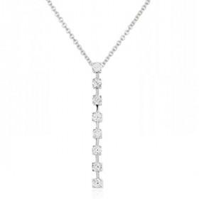 Chaine or blanc 18 carats et rivière de diamants 0,18 carat