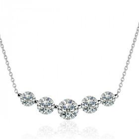 Chaine or blanc 18 carats et rivière de diamants 0,07 carat