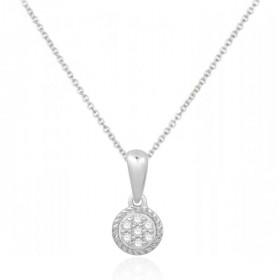 Chaine or blanc 18 carats et diamants 0,05 carat