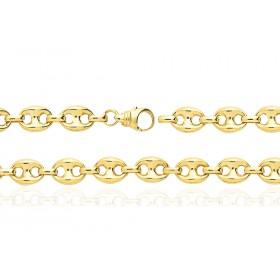 Bracelet or jaune 18 carats maille grain de café