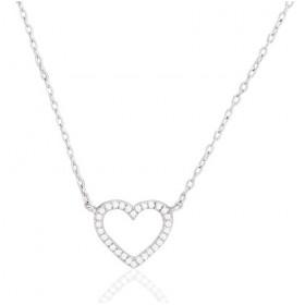 chaine de cou en or 18 carats et pendentif or blanc et diamant 0,06 carat