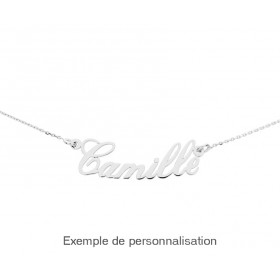 collier prenom or blanc personnalisable