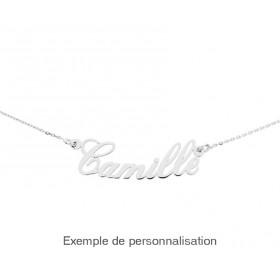 collier prenom or blanc personnalisable