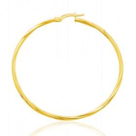 créoles torsadées en or jaune 18 carats