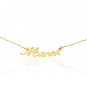 collier prenom or jaune 18 carats personnalisable