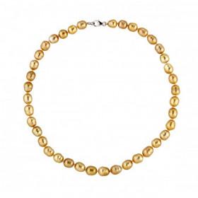 Collier perles des mers du sud 8/10 mm et or jaune 18 carats