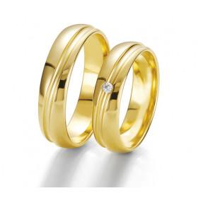 "Duo d'alliance femme or jaune 18 carats  BREUNING ""tendre union"""