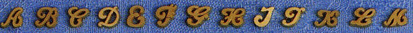 Initiales pour boucles d'oreilles or