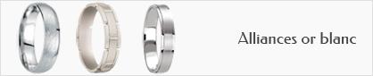 E-joaillerie, collection d'alliances en or blanc 18 carats pour hommes