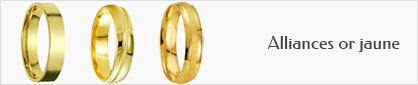 collection d'alliances pour hommes en or jaune 18 carats