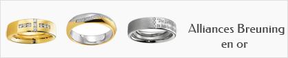 Alliances en or 18 carats Breuning