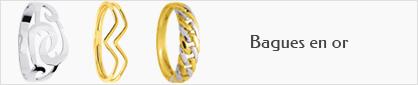 collection de bagues en or 18 carats