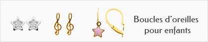collections de boucles d'oreilles en or pour enfants
