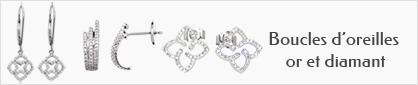 collection de boucles d'oreilles en or et diamant pour femme