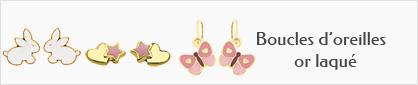collections de boucles d'oreilles en or laqué pour enfants.