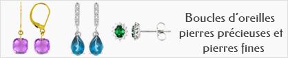 collections de boucles d'oreilles pierres fines et pierres précieuses pour femmes