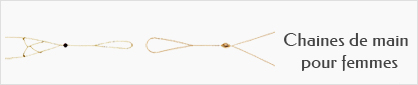 collection de chaines de main en or pour femmes.
