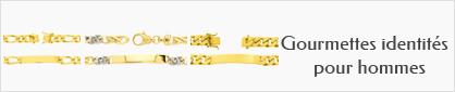 collections de bracelets identités personnalisables en or pour hommes.