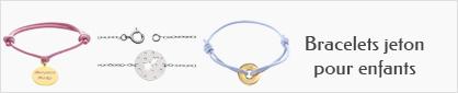 collections de bracelets jeton en or pour enfants