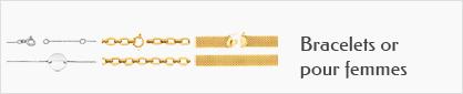 collections de bracelets en or 18 carats pour femmes.