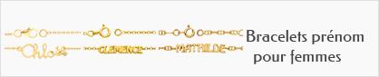 collections de bracelets prénom personnalisables en or pour femmes