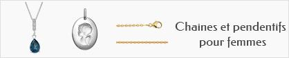collections de chaines et pendentifs en or pour femmes
