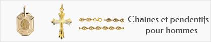 collections de chaines et pendentifs en or pour hommes