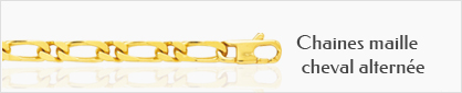 collection chaines de cou pour femme en or cheval alternée