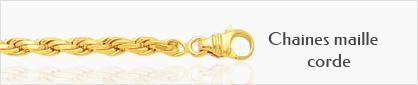 collection chaines de cou en or pour femmes maille corde