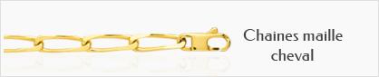 collection chaines de cou en or maille cheval pur femmes