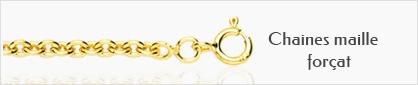 collection chaines de cou or maille forçat pour femmes