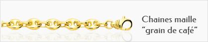 Collections de chaines en or maill grain de café pour femmes