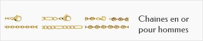 collections de chaines en or 18 carats pour hommes.
