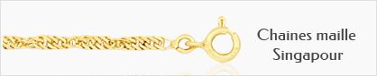 Collections de chaines en or maille Singapour pour femmes