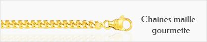 Collection de chaines en or maille gourmette pour femmes