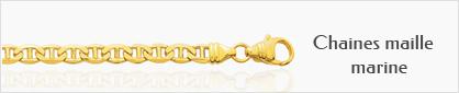 Collections de chaine de cou en or maille marine pour femmes
