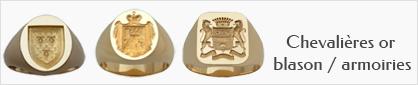 collection de chevalières héraldiques réalisées par le Meilleur ouvrier de France