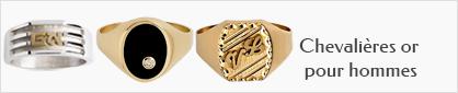 collection chevalières personnalisables en or pour hommes