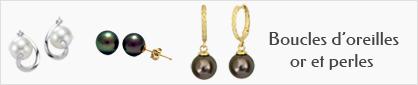 collections de boucles d'oreilles en or et perles pour femmes