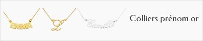colliers prénoms en or personnalisables pour femmes