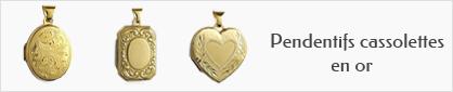 collections de pendentifs cassolettes en or personnalisables pour femmes