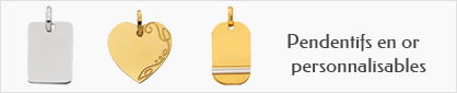 collections de pendentifs personnalisables en or 18 carats pour enfants.