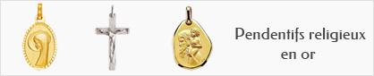 collections de pendentifs religieux en or pour femmes