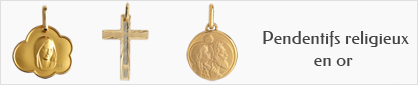 collections de pendentifs religieux en or pour hommes.